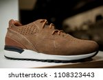 stylish leather men's shoes and ... | Shutterstock . vector #1108323443