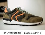 stylish leather men's shoes and ... | Shutterstock . vector #1108323446
