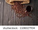 espresso americano coffee... | Shutterstock . vector #1108327934
