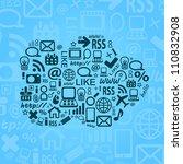 cloud computing vector blue... | Shutterstock .eps vector #110832908