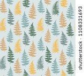 fern frond herbs  tropical... | Shutterstock .eps vector #1108331693