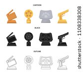 gold pistol  silver prize for...   Shutterstock .eps vector #1108338308