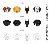muzzle of different breeds of...   Shutterstock .eps vector #1108341914