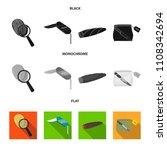 a fingerprint study  a folding... | Shutterstock .eps vector #1108342694