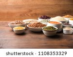 uncooked pulses grains and... | Shutterstock . vector #1108353329