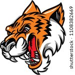 the illustration shows a tiger... | Shutterstock .eps vector #1108382669