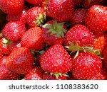a very tasty strawberry | Shutterstock . vector #1108383620