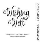 typography text wedding sign... | Shutterstock .eps vector #1108404170