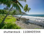 landscape with beach and... | Shutterstock . vector #1108405544