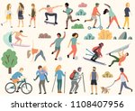 outdoor activity illustration ... | Shutterstock .eps vector #1108407956