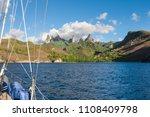 approaching ua pou island from... | Shutterstock . vector #1108409798