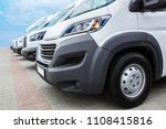 number of new white minibuses...   Shutterstock . vector #1108415816