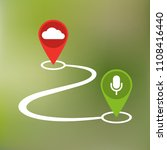 hidden listening with cloud... | Shutterstock .eps vector #1108416440