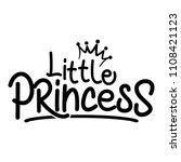 little princess  vector... | Shutterstock .eps vector #1108421123