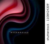 fluid mixing colors vector wave ... | Shutterstock .eps vector #1108424309