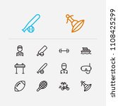activity icons set. american...