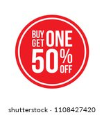 red shop vector sign for a buy... | Shutterstock .eps vector #1108427420