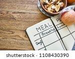 nutrition plan healthy food...   Shutterstock . vector #1108430390