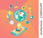 social media illustration | Shutterstock .eps vector #1108451459