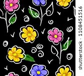 seamless background with cute... | Shutterstock .eps vector #1108451516