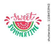 hello sweet summer.... | Shutterstock .eps vector #1108453943