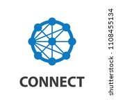 technology connection logo... | Shutterstock .eps vector #1108455134