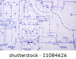 electrical blueprint of a house | Shutterstock . vector #11084626