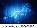 2d rendering stock market...   Shutterstock . vector #1108465283