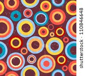 retro background with circles.... | Shutterstock .eps vector #110846648