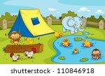 illustration of group of... | Shutterstock .eps vector #110846918
