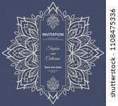 save the date invitation card... | Shutterstock .eps vector #1108475336