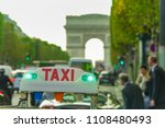 taxi car sign and business... | Shutterstock . vector #1108480493