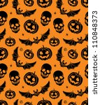 vector seamless with pumpkin ... | Shutterstock .eps vector #110848373