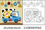 driver truck with traffic signs ... | Shutterstock .eps vector #1108484960