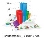 3d bar chart  vector file. 3d... | Shutterstock .eps vector #110848736