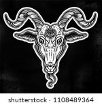 demon goat baphomet with sacred ... | Shutterstock .eps vector #1108489364