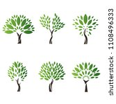 icon  tree wallpaper | Shutterstock . vector #1108496333