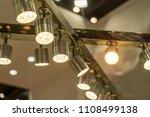led light on mall roof. | Shutterstock . vector #1108499138