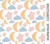 vector baby pattern moon and... | Shutterstock .eps vector #1108512266