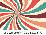 retro starburst or sunburst... | Shutterstock .eps vector #1108513940