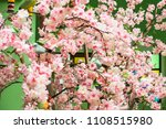 pink flowers made of fabric.... | Shutterstock . vector #1108515980