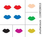 vector lips set | Shutterstock .eps vector #1108528013