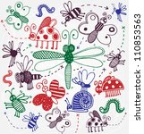 vector funny insects   Shutterstock .eps vector #110853563