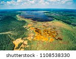 aerial of riding mountain... | Shutterstock . vector #1108538330