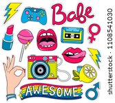 fashion badges  patches ... | Shutterstock .eps vector #1108541030