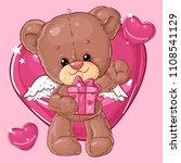 teddy bear. children character. ...   Shutterstock .eps vector #1108541129