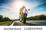 motorbike on the road riding.... | Shutterstock . vector #1108543940