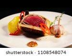 beef wellington with vegetables ...   Shutterstock . vector #1108548074
