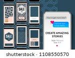 editable instagram stories... | Shutterstock .eps vector #1108550570