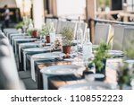 table decoration for a special... | Shutterstock . vector #1108552223